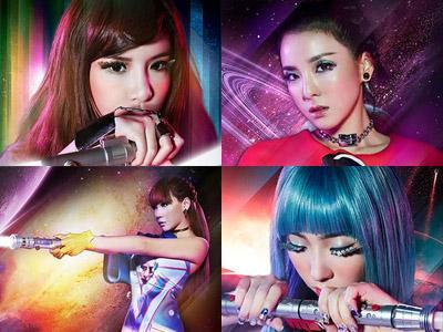 Wow, 2NE1 Berubah Jadi Prajurit Ruang Angkasa dalam Teaser Foto Konser Tur Dunia nya!