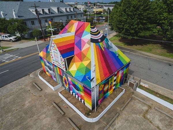 Para Seniman Ini Mengubah Kota Arkansas Menjadi Galeri Seni Outdoor Yang Menakjubkan