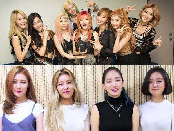 Kembali Promosi Bersama, SNSD dan Wonder Girls Reunian di Backstage 'Inkigayo'!