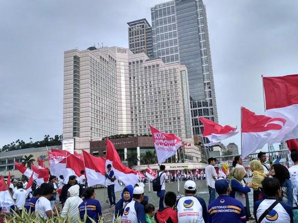 Parade Bhinneka Tunggal Ika, Ratusan Orang Padati Bundaran HI untuk Aksi 'Kita Indonesia'