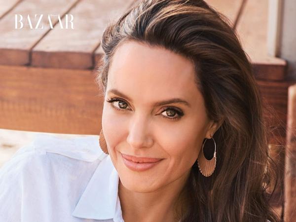 Peduli Satwa Liar, Angelina Jolie Berpose Bareng Cheetah di Sampul Majalah Harper's Bazaar