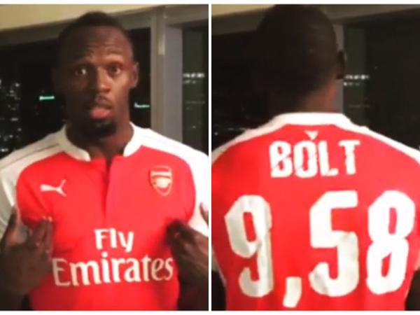 Kalah Taruhan, Pelari Usain Bolt Dipaksa Pakai Jersey Arsenal