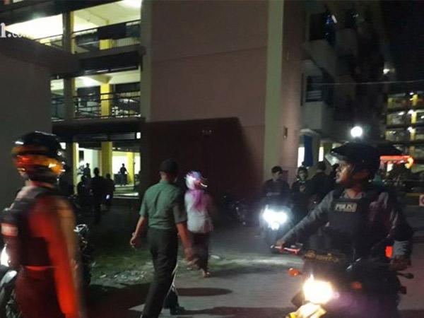 Bom Meledak di Rusunawa Belakang Polsek Taman Sidoarjo