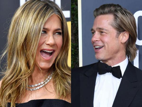 Interaksi Brad Pitt dan Jennifer Aniston di Golden Globes 2020, Fans Heboh