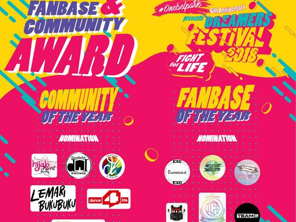 Yuk Dukung Fanbase dan Komunitas Favoritmu di Dreamers Festival 2018!