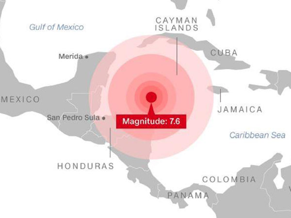 Ledakan-ledakan Listrik Akibat Dampak Gempa Hebat Laut Karibia Berujung Peringatan Tsunami