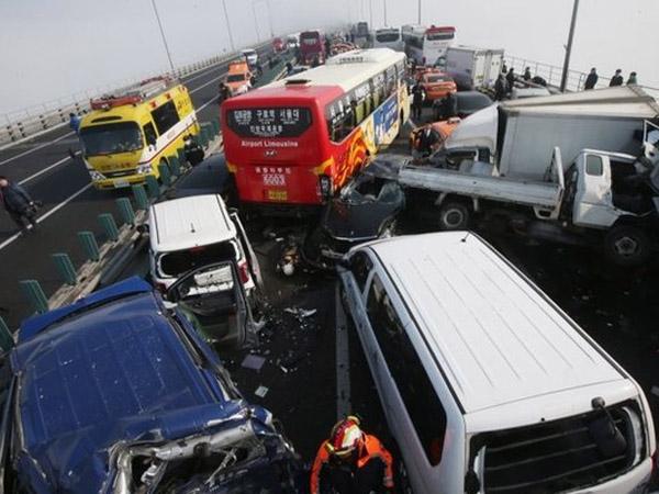Tabrakan Beruntun Kembali Terjadi di Korea Selatan, Libatkan 100 Mobil dan 2 Tewas