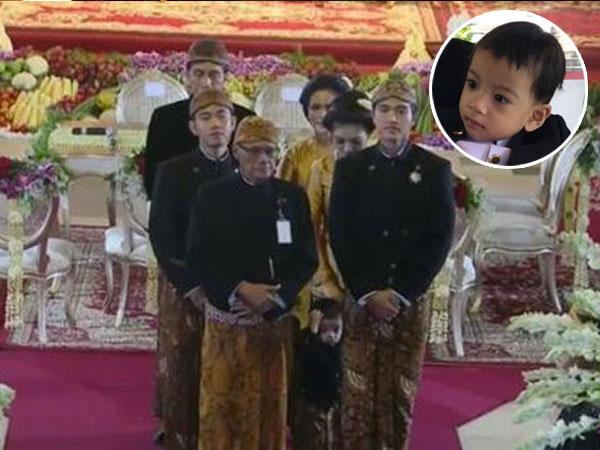 Lucunya Tingkah Jan Ethes Ikuti Prosesi Pernikahan Kahiyang-Bobby, Bikin Gemes!