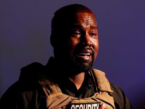 Gelar Kampanye Perdana, Kanye West Menangis Bahas Aborsi dan Cerai