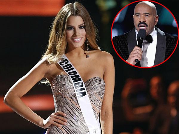 Kembali Bertemu, Miss Colombia Suruh Steve Harvey untuk Belajar Membaca