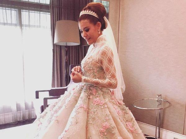 Tampil Anggun Bak Putri Kerajaan, Olga Lydia Resmi Dinikahi Sang Kekasih!