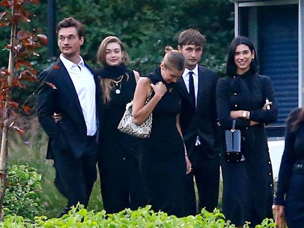 Beri Dukungan, Tyler Cameron dan Dua Lipa Muncul di Pemakaman Nenek Gigi dan Anwar Hadid