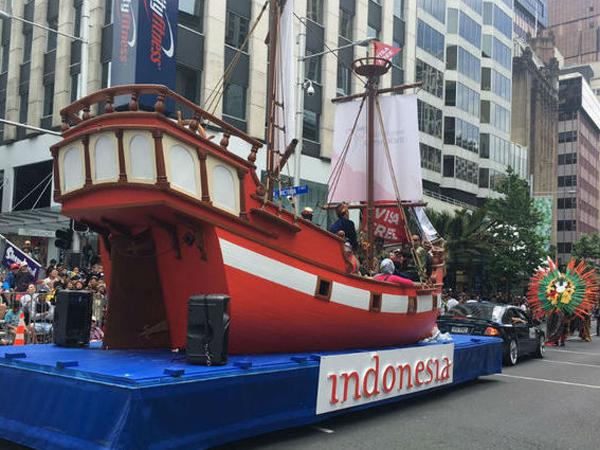 Bawa Kapal Phinisi, Indonesia Ikut Meriahkan Festival Natal Terbesar di Kota Selandia Baru