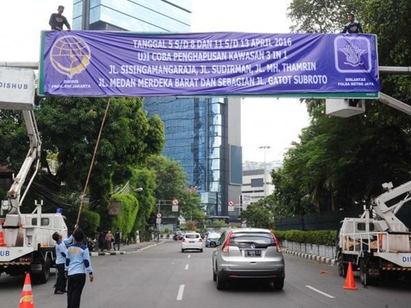 Uji Coba Penghapusan Sistem 3 in 1 di Jakarta Berlaku 5-13 April