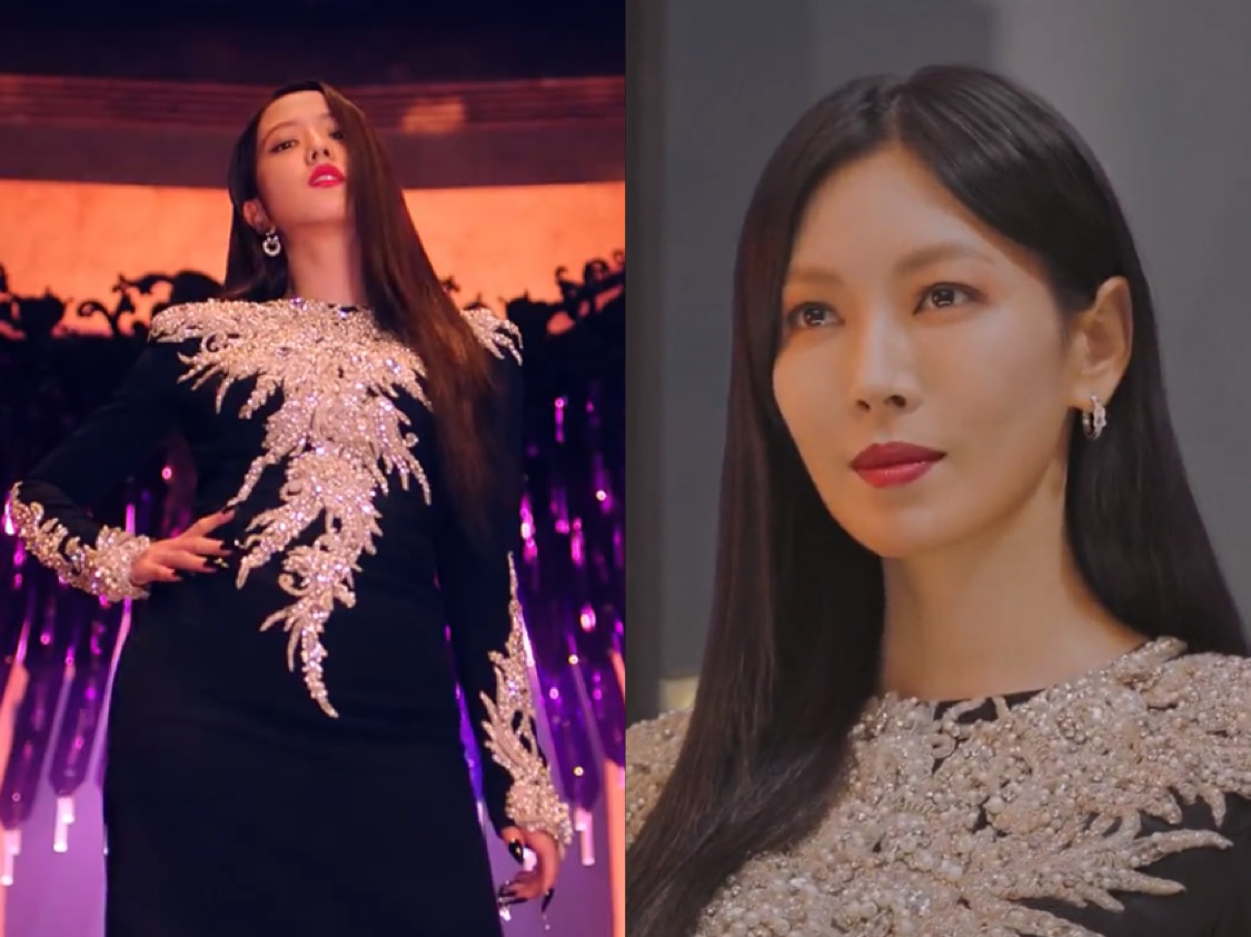 Dress Kembar Jisoo BLACKPINK dan Kim So Yeon 'Penthouse', Who Wore It Better?