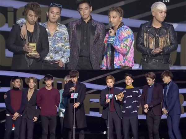 Raih Penghargaan Tertinggi di MAMA 2015, Ini Ungkapan Big Bang dan EXO