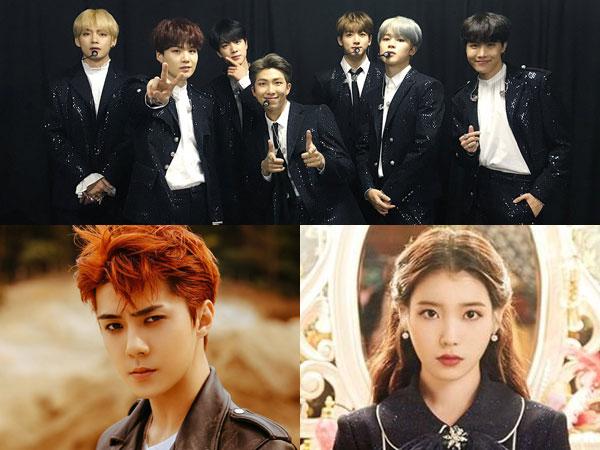BTS, Sehun EXO, dan IU Menangkan Popularity Awards di 'Asia Artist Awards 2018'