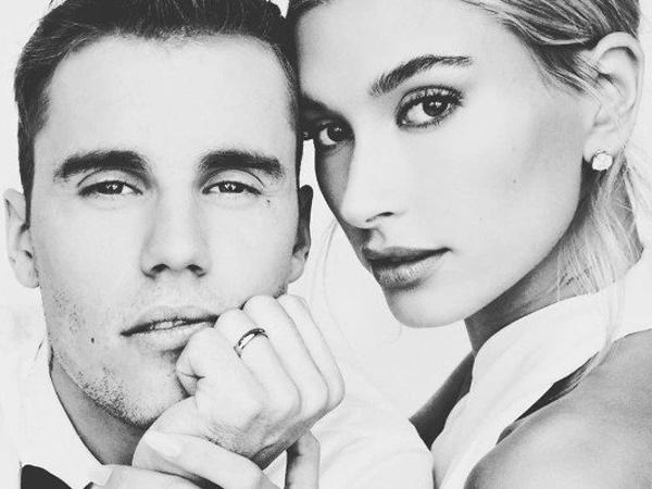 Romantis, Justin Bieber Buatkan Kalung Khusus untuk Hailey