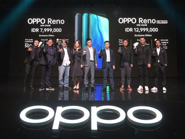 Resmi Diluncurkan, Ini Spesifikasi Lengkap dan Harga Oppo Reno Series di Indonesia