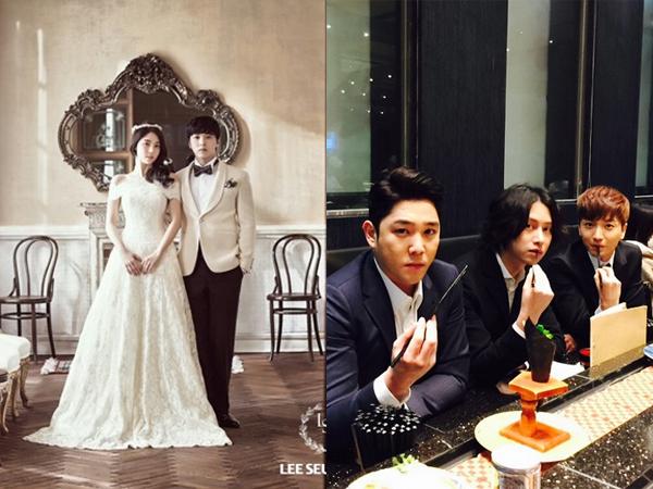 Super Junior Terlihat Ikut Berbahagia Dalam Pernikahan Sungmin dan Kim Sa Eun