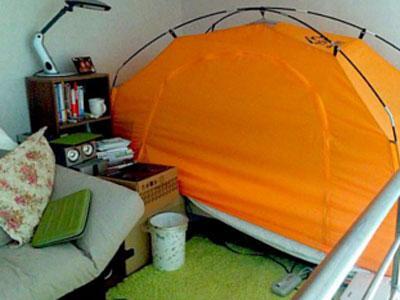 Musim Dingin, Korsel Ngetren Pasang Tenda di Tempat Tidur