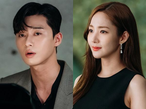 Momen Romantis Park Seo Joon Lamar Park Min Young di Drama 'Secretary Kim'