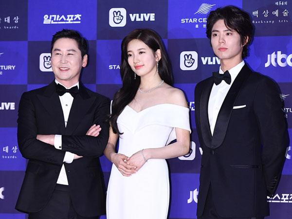 Shin Dong Yup, Suzy, dan Park Bo Gum Kembali Didapuk Jadi MC Baeksang Arts Awards