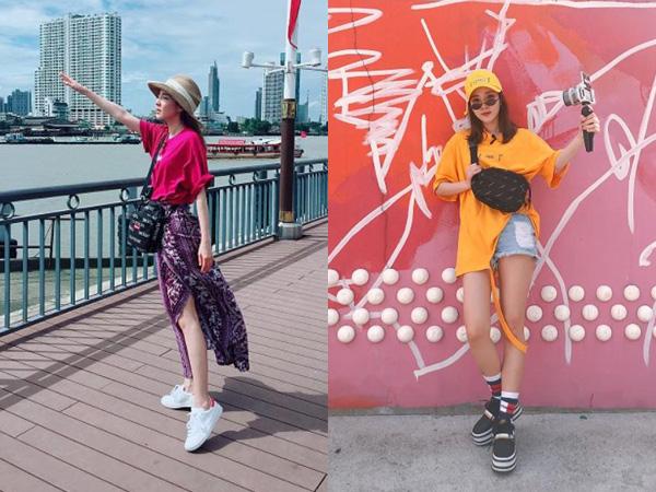 Inspirasi Gaya Fashion Sandara Park untuk Liburan Hingga Nonton Konser yang Bisa Kamu Tiru