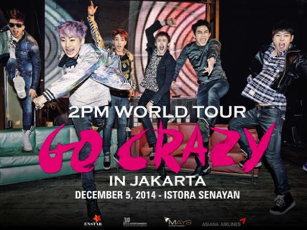 Faktor Teknis, Konser 'Go Crazy' 2PM di Jakarta Diundur Hingga 2015!