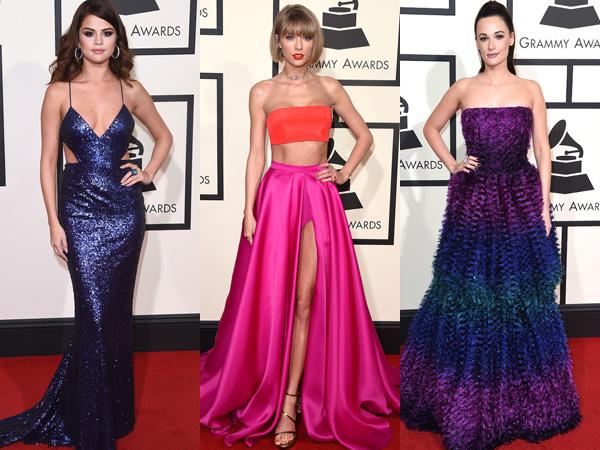 Warna Warni Gaun Terbaik Para Selebriti di Karpet Merah Grammy Awards 2016