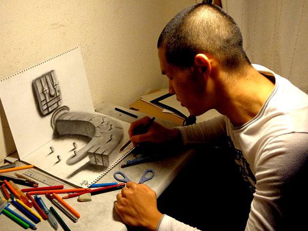 Wow, Seniman Jepang Buat Gambarnya Melompat Dari Kertas dan 'Hidup' !