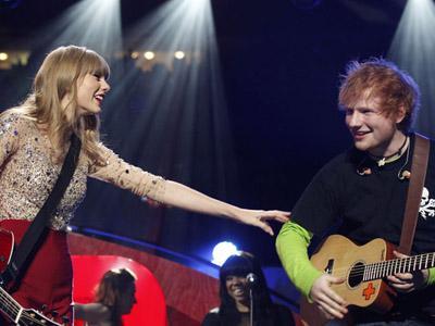 Taylor Swift dan Ed Sheeran Bermalam Bersama Sebelum BRIT Awards?
