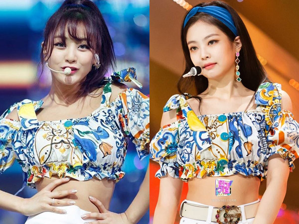 Cropped Blouse Kembar Jihyo TWICE vs Jennie BLACKPINK, Who Wore It Better?
