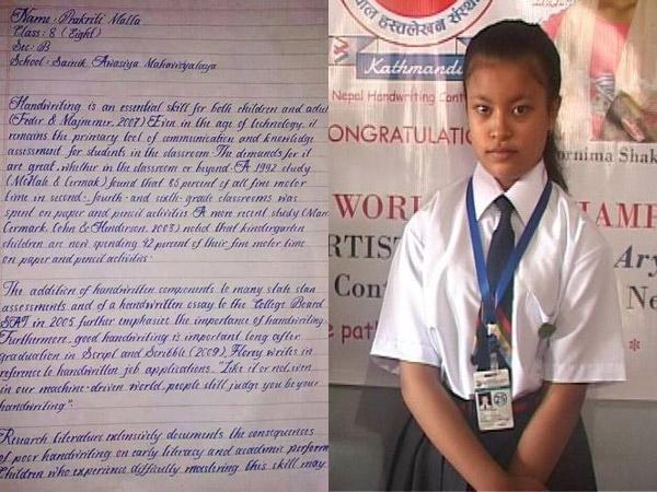 Tulisan Tangan Anak SMP Ini Disebut yang Terindah Sedunia!