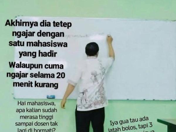 Viral Insiden 'Kelas Kosong' dengan Dosen yang PP Purwodadi-Semarang