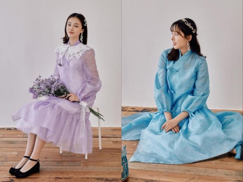 Nancy dan Nayun MOMOLAND Rilis Hanbok Modern Desain Sendiri