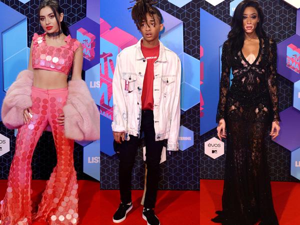 Gaya Stylish Para Selebriti Ternama di Red Carpet MTV Europe Music Awards 2016