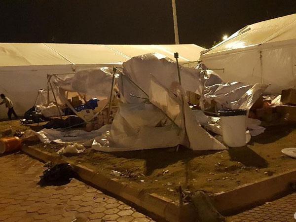 Situasi Terkini Pasca Angin Kencang Landa Kawasan Arafah Jelang Puncak Haji
