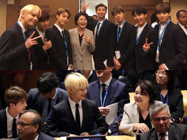 Melihat Hangatnya Pertemuan BTS dengan Ibu Negara Korsel di Sidang PBB #UNGA