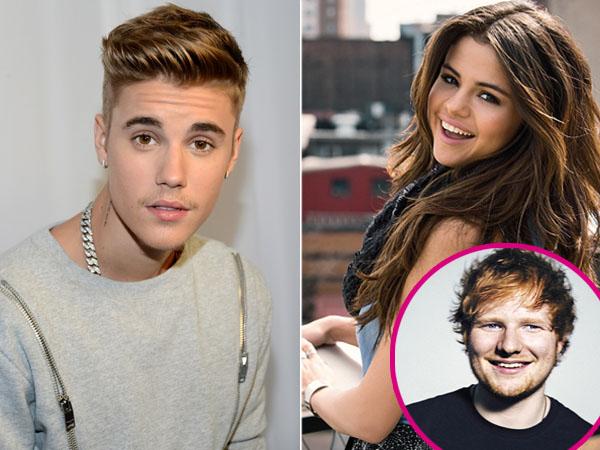 Hindari Justin Bieber, Selena Gomez 'Dekati' Ed Sheeran