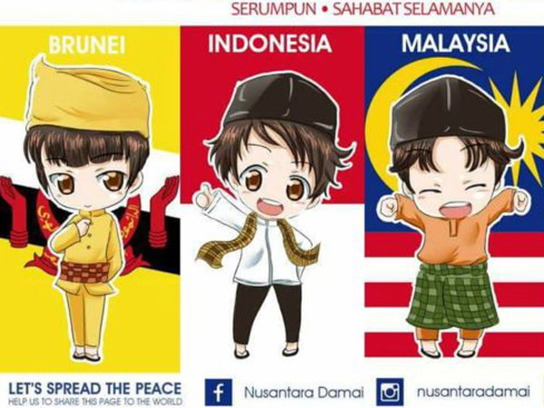 Cara Manis Ilustrator Indonesia Tanggapi Insiden 'Bendera Terbalik' yang Dilakukan Malaysia