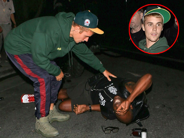 Duh, Mobil Justin Bieber Tabrak Paparazzi