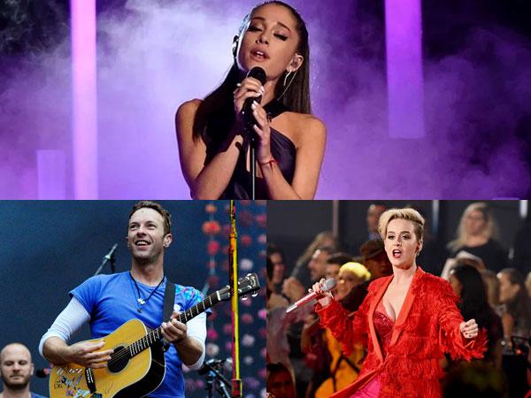 Coldplay Hingga Katy Perry, Ariana Grande Gelar Konser Amal Bareng Sederet Musisi Ternama