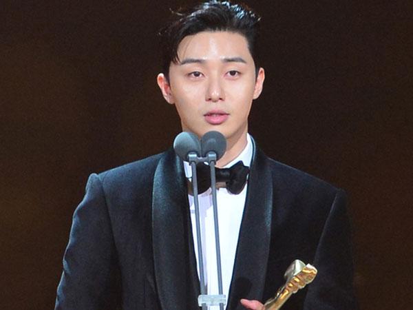 Tangis Park Seo Joon dalam Pidato Kemenangannya di KBS Drama Awards 2017