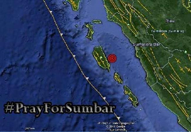Gempa 7,8 SR Terjadi di Mentawai, #PrayForSumbar Jadi Trending Topic di Sosmed