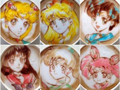 Wow, Barista ini Lukis Sailor Moon di Atas Kopi