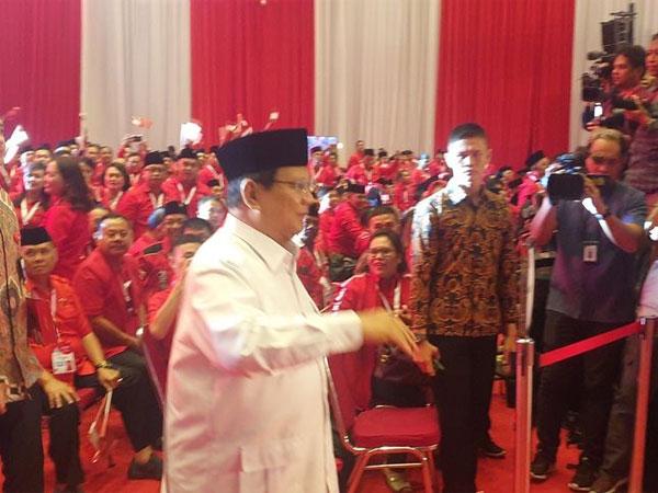 Jadi Satu-satunya yang Disapa Megawati, Prabowo Dapat Sambutan Paling Riuh di Rakernas PDI-P