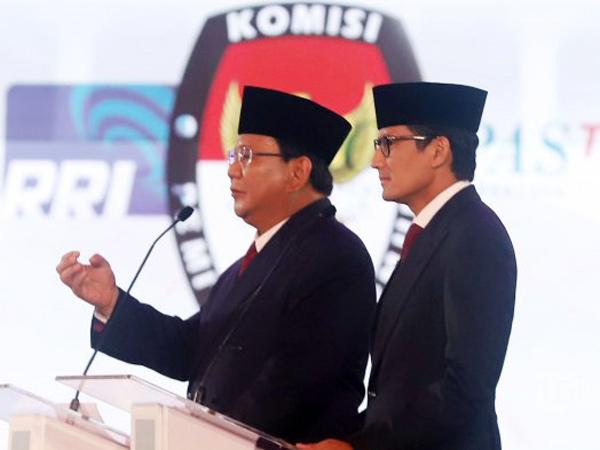 Momen Unik di Debat Pertama, Prabowo Joget Hingga Dipijit Sandiaga Uno