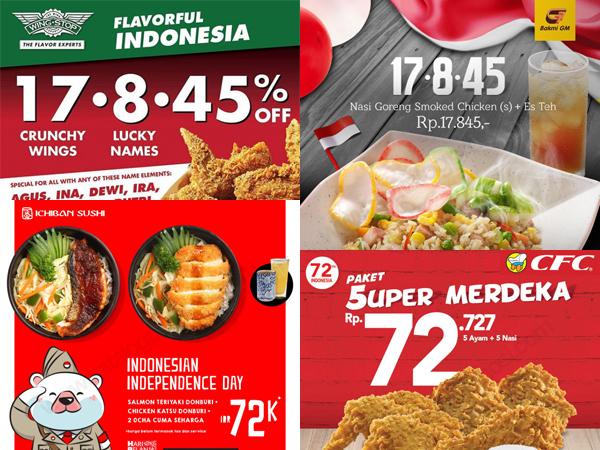 Yeay, Beberapa Resto Ini Beri Promo Menarik di Perayaan Kemerdekaan Indonesia Ke-72