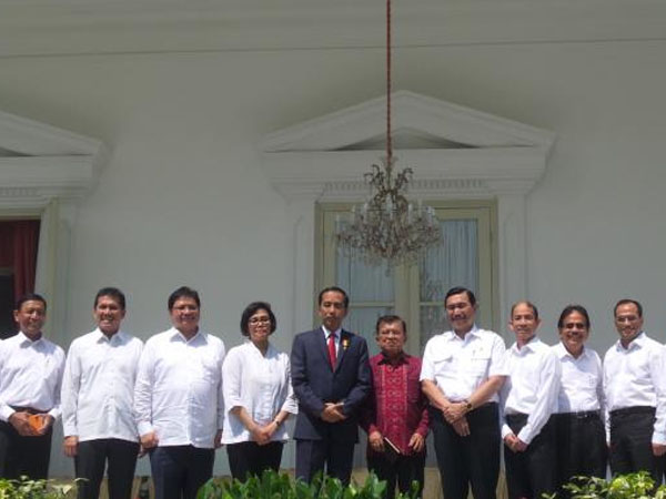 Presiden Jokowi Umumkan 'Reshuffle' Menteri, Ini Susunan Kabinet Kerja yang Baru